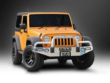 Picture of 2014 Jeep Wrangler JK Polished Alloy Bullbar