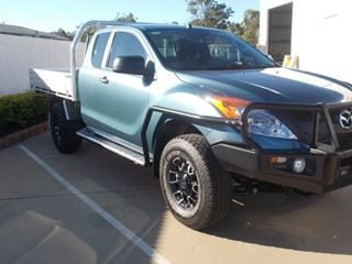 Picture of Siderails and sidesteps - Mazda BT50 (10/2011 on) extra cab