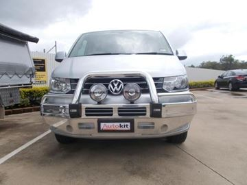 Picture of 2014 VW Transporter Polished Alloy Bullbar and Roo lite combo