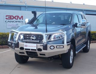 Picture of ECB Polished Alloy Winch Bullbar - Nissan NP300
