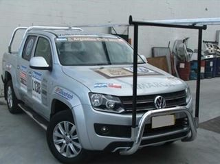 Picture of 2014 VW Amarok 76 mm polished alloy nudge bar and H rack