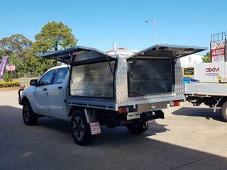 Picture of Alloy Checkerplate Canopy - Mazda BT50